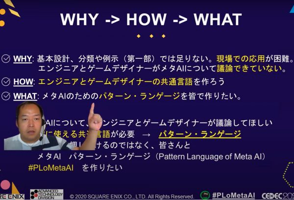 【CEDEC2020】メタAIを発展させるパターン・ランゲージからデザインパターンへの応用